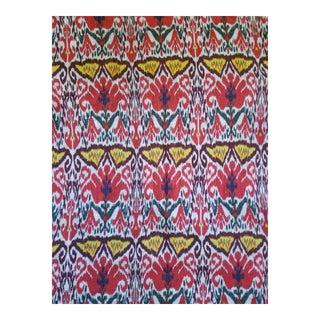 Heavy Linen Hand Blocked Fabric, 3yds