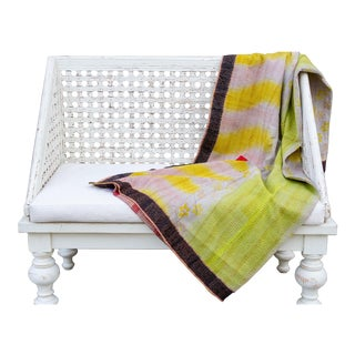 Primitive Bengal Kantha Throw For Sale