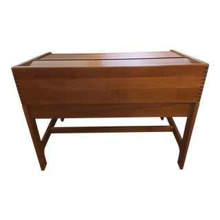 Danish Modern Teak Rolltop Desk For Sale