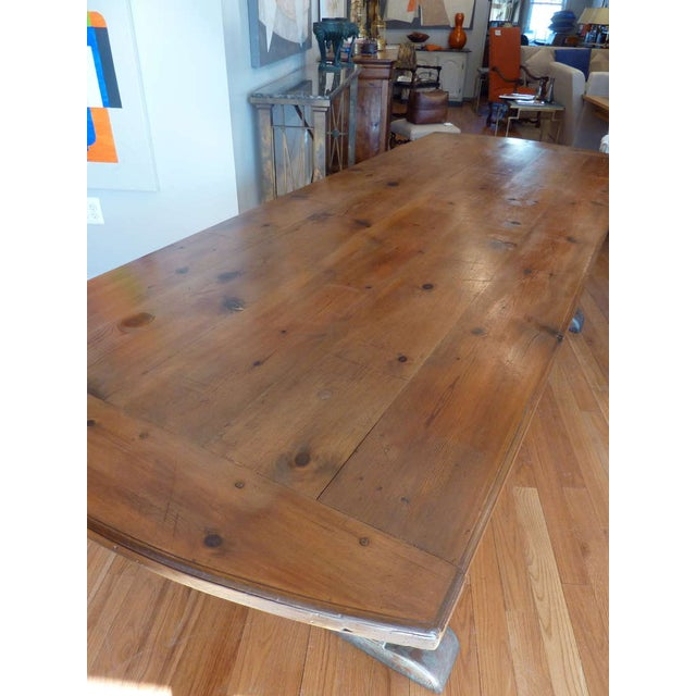 Shabby Chic 19th Century Scandinavian Trestle Table For Sale - Image 3 of 8