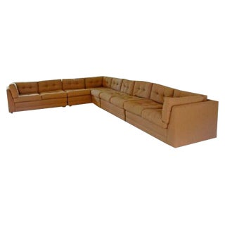Contemporary Modern Vladimir Kagan for Preview 5 Pc L Shape Sectional Sofa 1980s For Sale