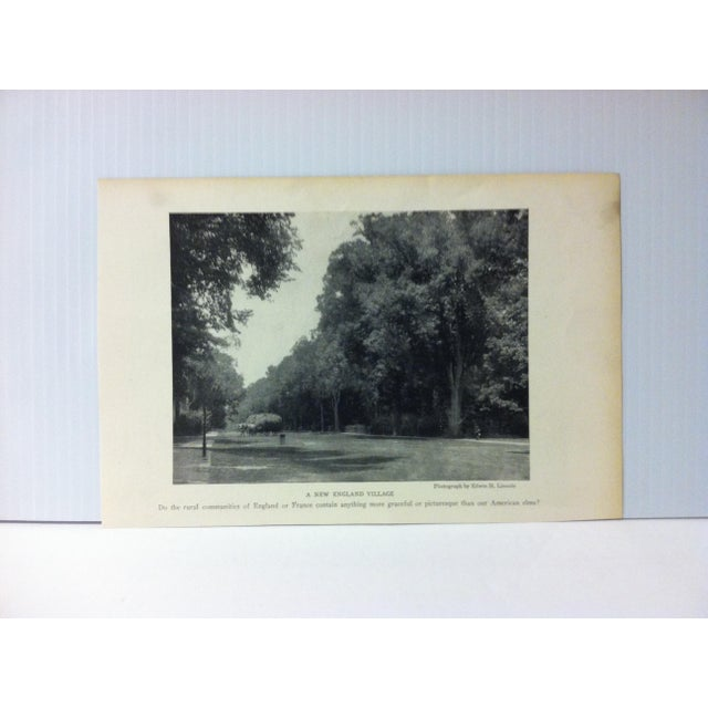 "Antique National Geographic Print ""A New England Village"" 1916 For Sale - Image 4 of 4"