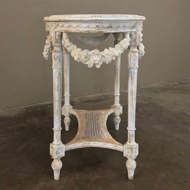 Late 19th Century 19th Century French Louis XVI Marble Top Table For Sale - Image 5 of 13