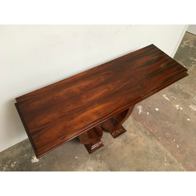 Art Deco Console in Rosewood For Sale - Image 4 of 12