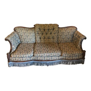 1930s Restored Victorian Sofa For Sale