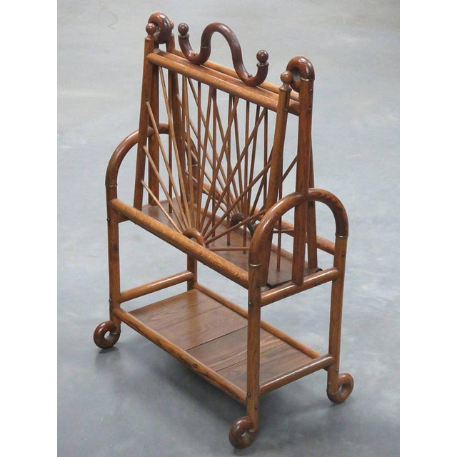Early 20th Century Victorian Oak Magazine Rack For Sale - Image 5 of 10