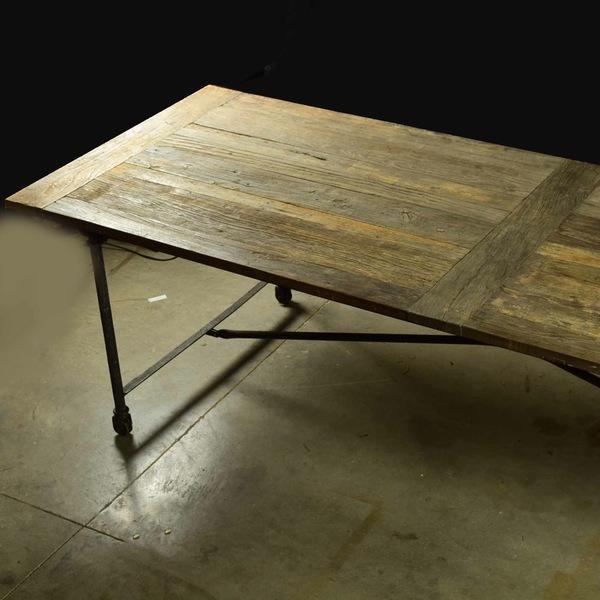 Restoration Hardware Reclaimed Elm Dining Table For Sale - Image 5 of 5