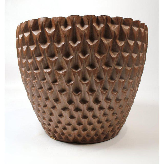 """Architectural Pottery David Cressey Artisan Series Unglazed """"Phoenix"""" Planter Architectural Pottery For Sale - Image 4 of 9"""