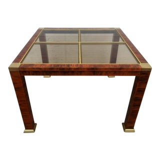 Modern Brass Accented Metal Coffee Table For Sale
