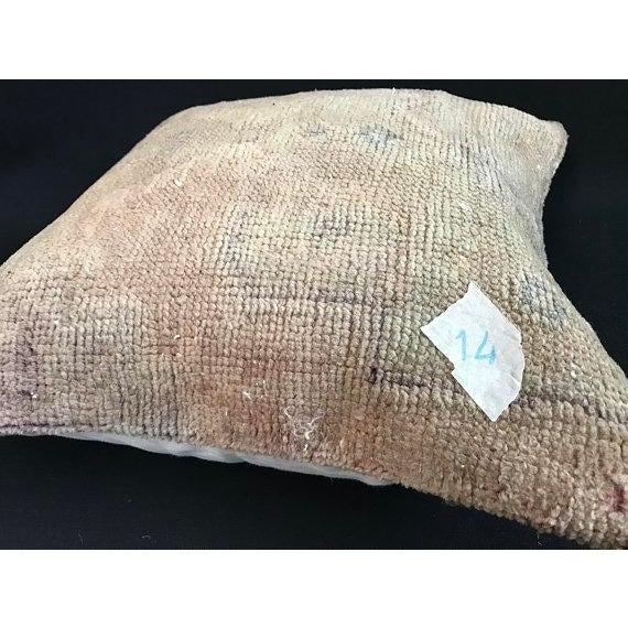 Tan 1960s Art Nouveau Handwoven Oushak Wool Pillow Case For Sale - Image 8 of 10