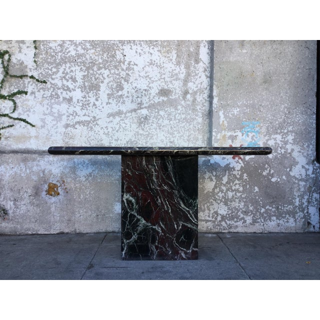 Marble Entryway Console Table For Sale - Image 4 of 6