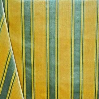 Contemporary Nancy Corzine Silk Velvet Stripe Designer Fabric by the Yard For Sale
