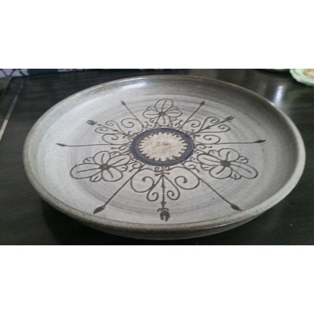 1980s Last Call 1980 Artisan Pottery Tray or Platter For Sale - Image 5 of 6