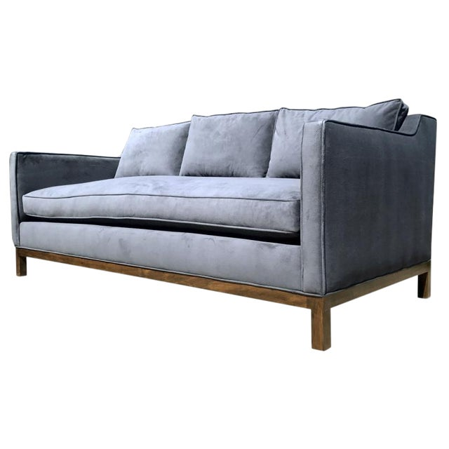 Empiric Evansville Fog Blue Sofa For Sale