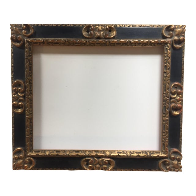 Great Vintage Picasso Style Carved Wood Frame - Image 1 of 7