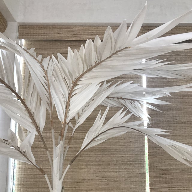 """Each frond is 3'-6"""" and adjustable Made from canvas material with a small burlap base Natural finish Largest Dimensions..."""