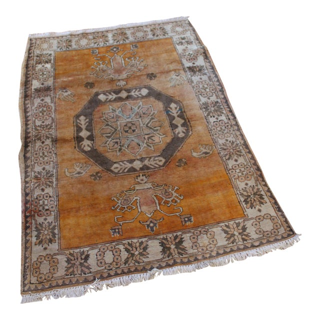 Turkish Hand Knotted Family Rug - 3′10″ × 5′9″ - Image 1 of 7