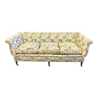 Vintage Settee Chinoiserie Style Upholstery Fabric For Sale