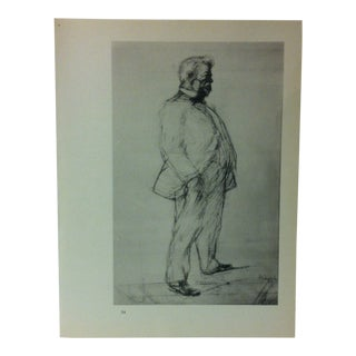 """Circa 1980 """"Portrait of a Man"""" Print of a Toulouse-Lautrec Drawing For Sale"""