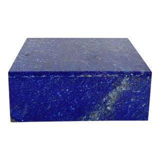 Vintage 1970s Italian Lapis Lazuli Box For Sale