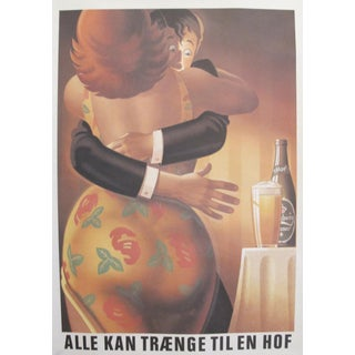 Original 1980's Danish Design Poster, 'Botero' Carlsberg
