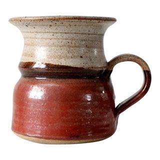 Vintage Signed Studio Pottery Mug For Sale