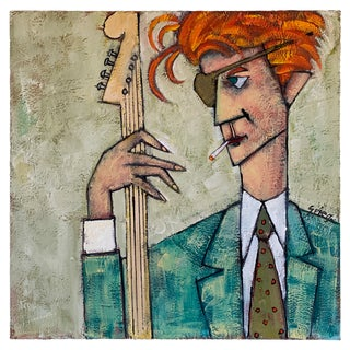 David Bowie Oil Painting by Jack Spiegelman For Sale