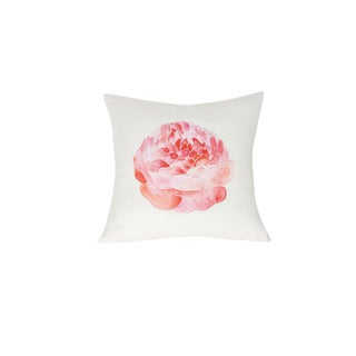 Large Linen Flower Pillow For Sale
