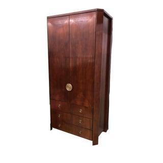1980s Art Deco Charles Pfister for Baker Furniture Primavera Wardrobe Dresser For Sale