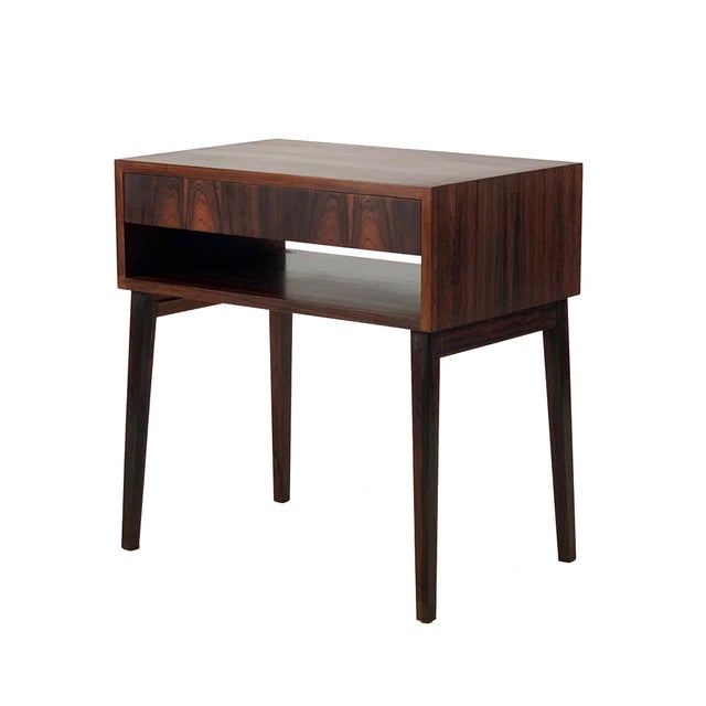 1960s Vintage Danish Rosewood Bedside Table For Sale In Seattle - Image 6 of 6