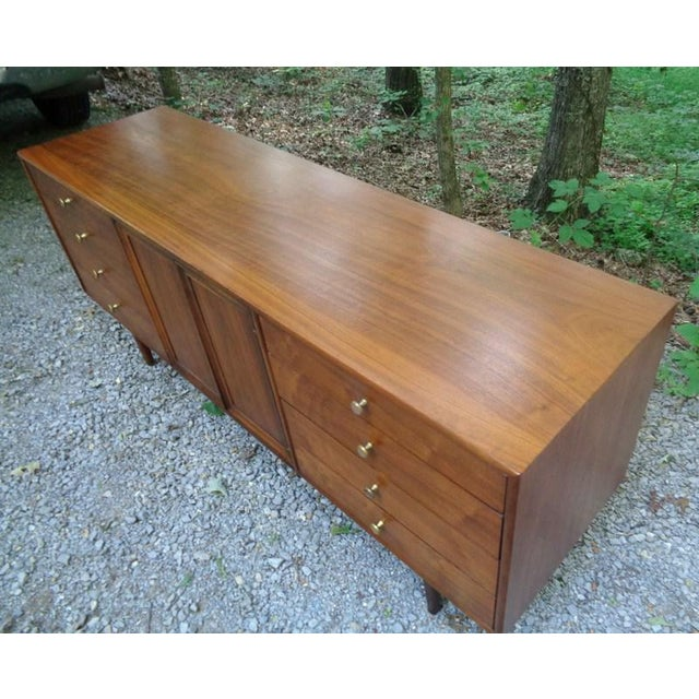 Kipp Stewart For Drexel Declaration Walnut Credenza Long Chest - Image 7 of 11