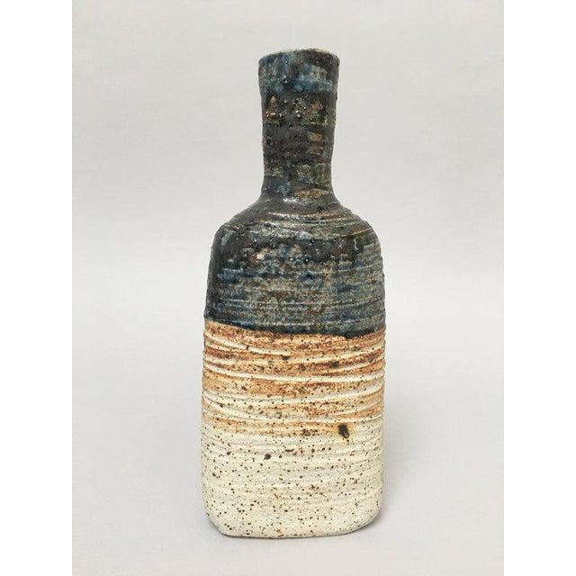 Tue Poulsen Tue Poulsen Danish Modern Stoneware Studio Pottery Bottle Vase For Sale - Image 4 of 9