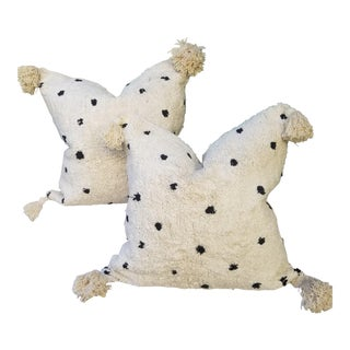 Cotton Moroccan Wedding Quilt Pillows - a Pair For Sale