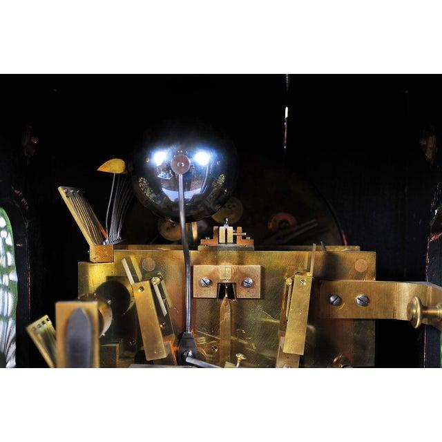 Brass 19th C. Reid & Sons Triple Fusee Ebony & Gilt Mantel Clock For Sale - Image 7 of 8