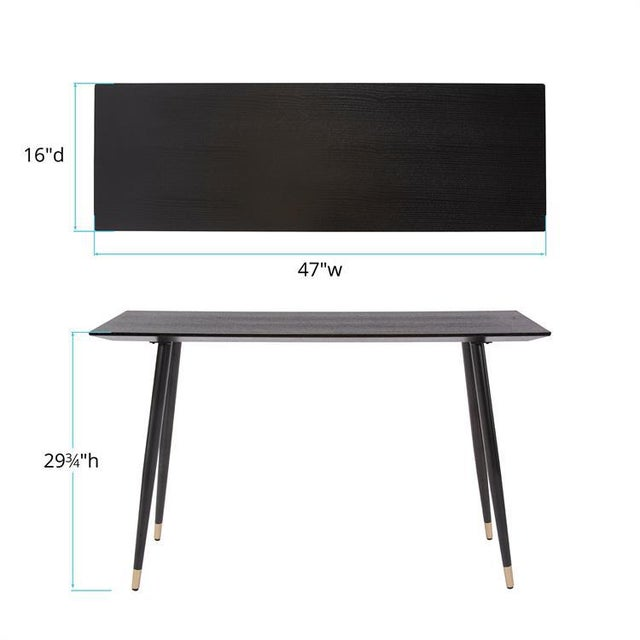 Metal Kenneth Ludwig Chicago Soho Wood Console Table For Sale - Image 7 of 8