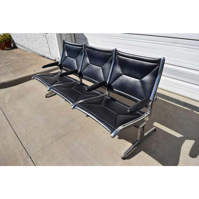 Mid-Century Modern Eames for Herman Miller Tandem Sling Airport Bench For Sale - Image 3 of 11