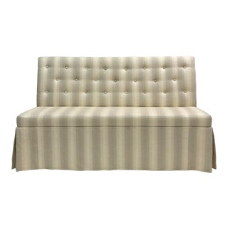 Resource Decor Striped Settee For Sale