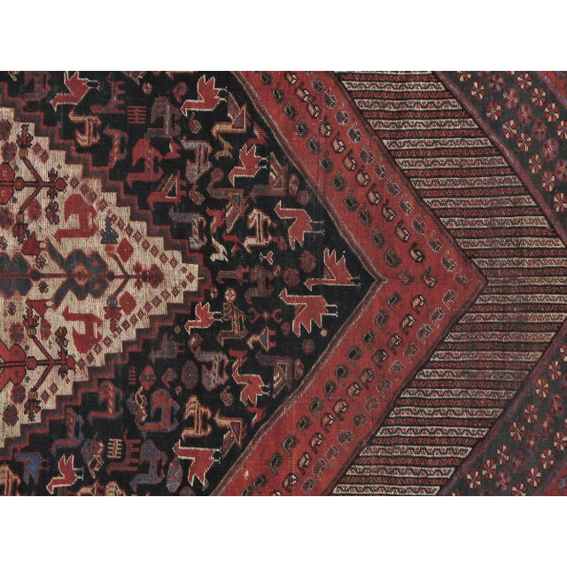 """Antique Persian Distressed Rug - 5'4"""" X 10'1"""" - Image 2 of 4"""