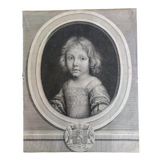 Early 19th Century Antique French François Joseph de Lorraine Portrait Print For Sale