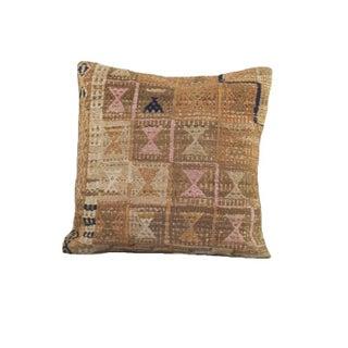 Vintage Cream and Navy Kilim Pillow