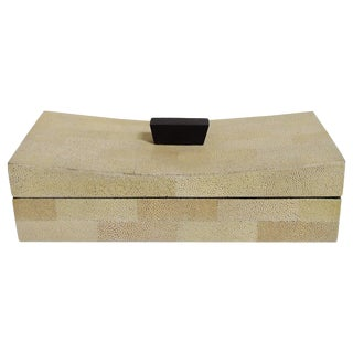Beige Curved Shagreen Box Final Clearance Sale For Sale