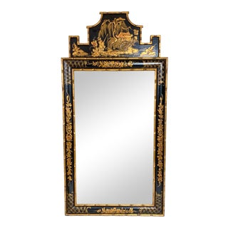 Italian Chinoiserie Faux Bamboo Mirror For Sale