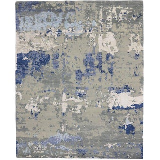 Contemporary Area Rug With Abstract Style - 8′1″ × 10′00 For Sale
