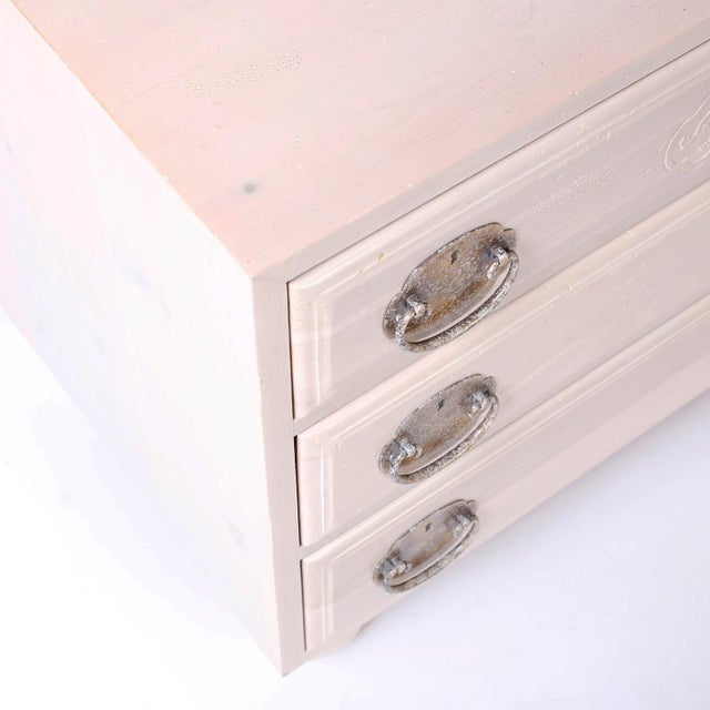 Mid 20th Century Midcentury Pickled Pine Chests or Nightstands - A Pair For Sale - Image 5 of 10