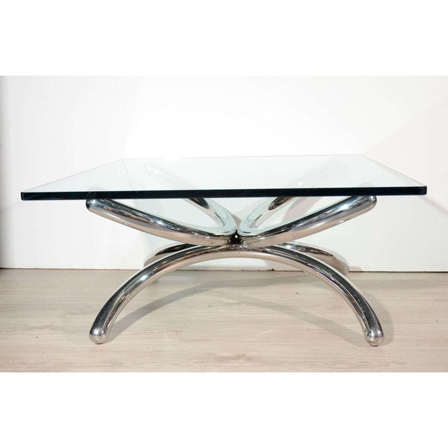 Italian Mid-Century Modern Coffee Table with Sculptural Base Design For Sale - Image 12 of 13