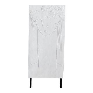 Vintage Abstract Plaster Sculpture on Metal Base For Sale