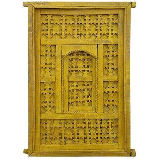 1970s Vintage Moroccan Yellow Door For Sale
