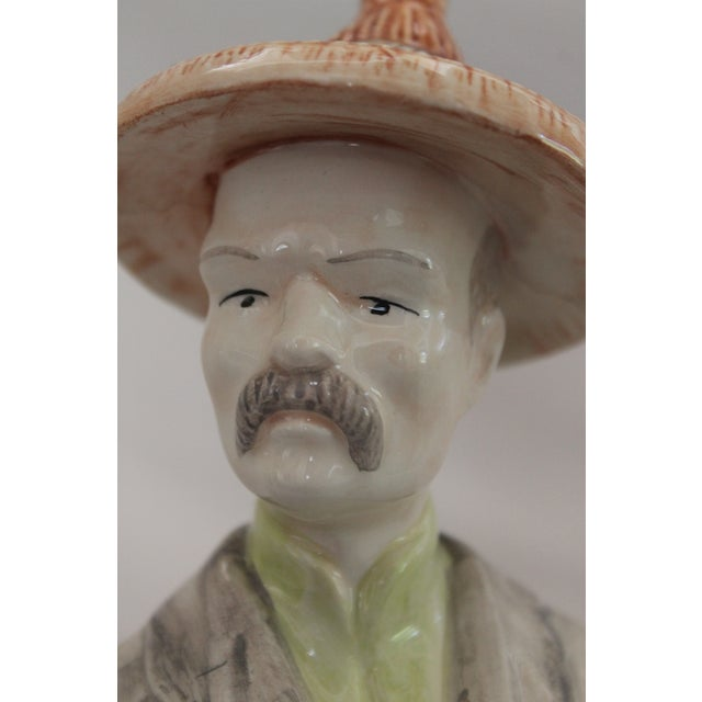 Global Views Chinese Ceramic Male Figurine For Sale - Image 4 of 12