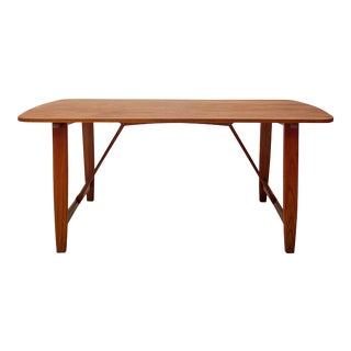 1960s Danish Modern Børge Mogensen Trestle Work Desk / Dining Table For Sale