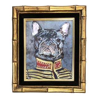 "French Bull Dog Print by Judy Henn "" Military Frenchie"" For Sale"